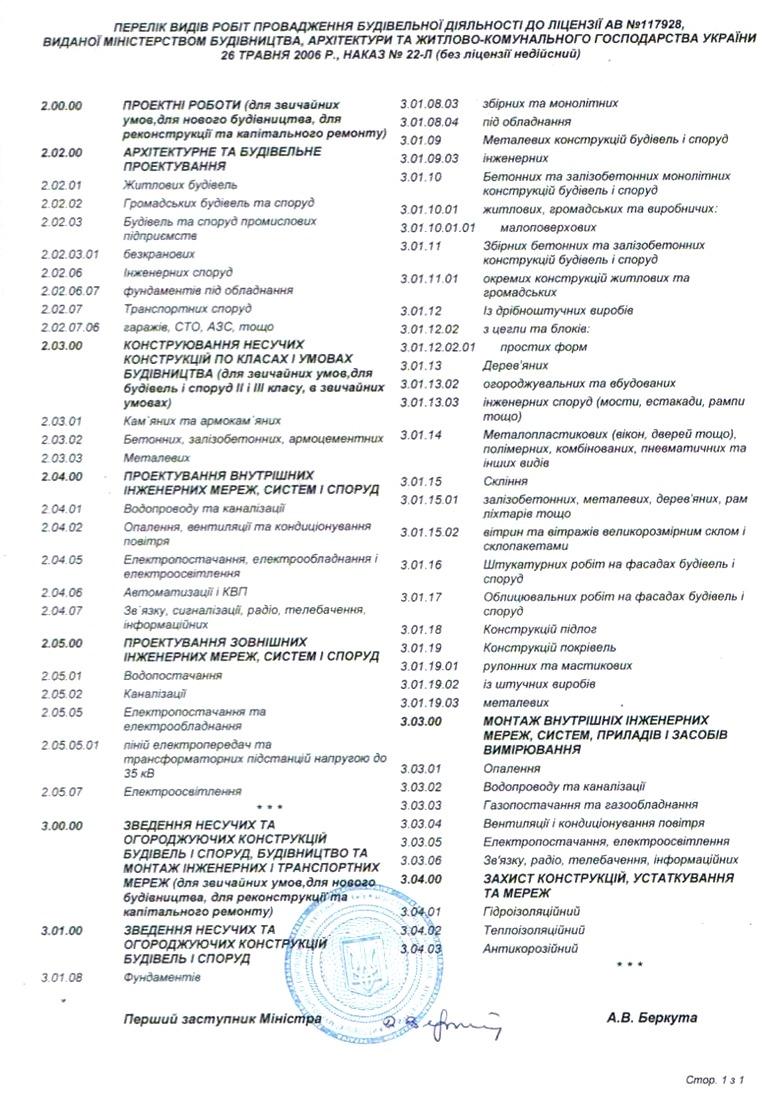Лицензия 2006 - 2